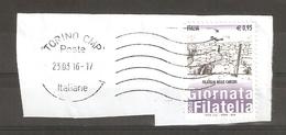 FR-0012-  2015  GIORNATA DELLA FILATELIA -FILATELIA NELLE CARCERI - USATO SU FRAMMENTO - 6. 1946-.. Repubblica