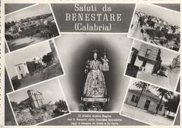 CARTOLINA: SALUTI DA BENESTARE (REGGIO CALABRIA) (VEDUTINE) - F/G - B/N - VIAGGIATA - Italia