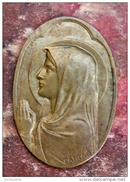 "Applique Médaillon Bronze ""Sainte Marie"" Médaille Religieuse - Graveur Tairac - Religious Medal"