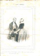 Lithographie Les Enfants Terribles Par Gavarni Parue Dans Le Charivari 1839-1840 (ORIGINAL) - Giornali