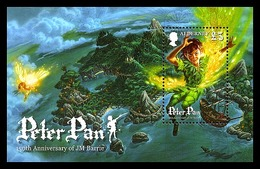 Alderney 2010 - Peter Pan Souvenir Sheet Mnh - Alderney