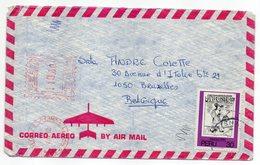 Pérou -1982--Lettre De LIMA  Pour Bruxelles (Belgique)--composition Mixte Timbres + Machine à Affranchir - Peru