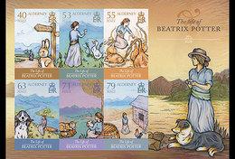Alderney 2013 - The Life Of Beatrix Potter Souvenir Sheet Mnh - Alderney