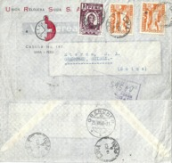 "Airmail R Brief  ""Union Relojera Suiza SA, Lima"" - Grenchen             1948 - Peru"