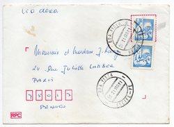 Brésil -1981--Lettre De BOA VISTA (Recife) Pour PARIS (France)--paire De Timbres Sur Lettre-- Beau Cachet - Cartas