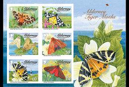 Alderney 2012 -Tiger Moths & Ermines Souvenir Sheet Mnh - Alderney
