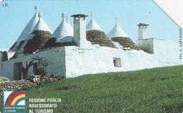 *ITALIA: REGIONE PUGLIA* - Scheda Usata (variante 515a) - Fouten & Varianten