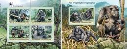 Centrafrica 2012, WWF, Gorillas, 4val In BF+BF - Centraal-Afrikaanse Republiek