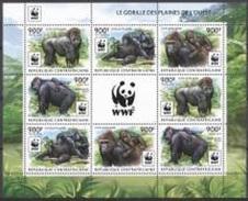 Centrafrica 2012, WWF, Gorilla, Sheetlet - Centraal-Afrikaanse Republiek