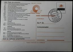 PORTUGAL - Stationery / Inteiro Postal BILHETE POSTAL - Publicity CTT. Cancel FILATELIA LISBOA 1982. Christmas. - Postal Stationery