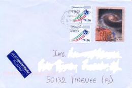 Italia 2013 Busta Con 0,60 Euro 200° Dell'Osservatorio Astronomico Di Capodimonte (2012) + 2 X 0,05 Euro