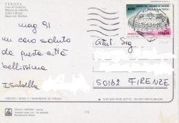 Italia 1991 Cartolina Illustrata Con 600 Lire Coppa Del Mondo Di Calcio 1990 Stadio Di Napoli (1990)