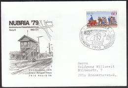 Germany Neu - Ulm 1979 / NUBRIA '79 Philatelic Exhibition / Trains, Railway