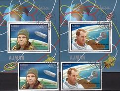 Tod Kosmonaut Gagarin 1968 Ajman 459,460,Blocks 141+142 O 30€ Astronaut White Blocs Ss Space-sphip Ms Sheets Bf VAE - Sonstige (Luft)