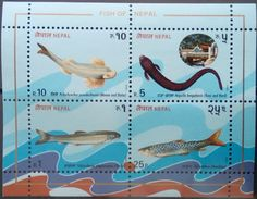 Nepal, 1993, Fishes, MNH