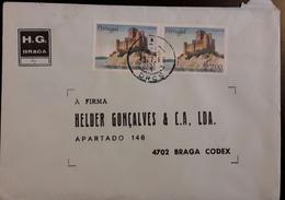PORTUGAL - Cover 13.7.1988 - Cancel DRCS - Stamps Castelo De Almourol - Braga