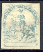 US Local. 1856 One Cent Dispatch. Azzurro ,Washington E Baltimora