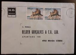PORTUGAL - Cover 12.7.1988 - Cancel Beja - Stamps Castelo De Almourol - H.G. Braga