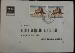 PORTUGAL - Cover 18.7.1988 - Cancel Belmonte - Stamps Castelo De Almourol - H.G. Braga