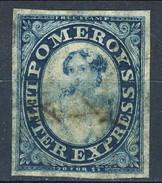US Local, 1844 Pomeroy's Letter Express New York, Albany, Buffalo, Toronto,  Azzurro E Blu M - 1845-47 Emissions Provisionnelles
