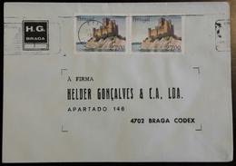 PORTUGAL - Cover 1988 - Cancel Beja - Stamps Castelo De Almourol 27$00 - H.G. Braga