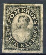 US Local, RARITA', 1844 Pomeroy's Letter Express New York, Albany, Buffalo, Toronto, Nero M