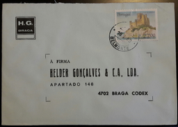 PORTUGAL - Cover 18.7.1988 - Cancel Belmonte - Stamps Castelo De Almourol 27$00 - H.G. Braga
