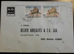 PORTUGAL - Cover 12.7.1988 - Cancel 7800 Beja - Stamps Castelo De Almourol 27$00 - H.G. Braga