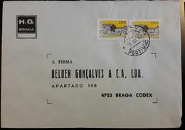 PORTUGAL - Cover 8.7.1988 - Cancel Portimão - Stamps Portuguese Architecture / Beira Interior 27$00 - H.G. Braga