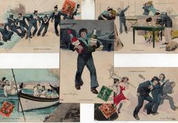 Mario Pezilla X 8, Humour Militaire Marine - Autres Illustrateurs