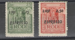 OCCUPAZIONE TEDESCA EGEO 1944 ESPRESSI PITTORICA ** MNH