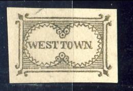 US Local, 1853 West Town (I° Tipo Senza Trattino Tra Le Parole). Filadelfia. M