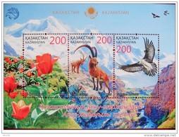 Bloc Sheet  Faune Fauna Fleurs Flowers Neuf MNH *** Kazakhstan 2016