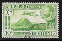 Ethiopia, Scott # C24 Used Plane Over Volcano, 1947