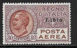 Libya, Scott # C2 Mint Hinged Italy Air Post Stamp Overprinted, 1929 - Libya