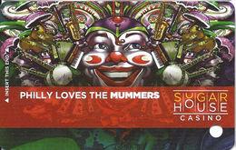 Sugar House Casino - Philadelphia, PA - Special Mummers Slot Card BLANK
