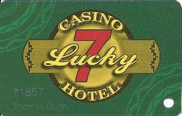 Lucky 7 Casino  - Smith River, CA USA - Slot Card