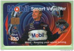 New Zealand - Cash Cards - 1997 Mobil Oil - $20 Peter Brock - VFU