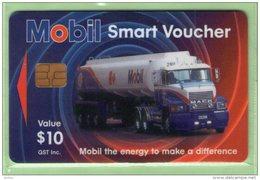 New Zealand - Cash Cards - 1997 Mobil Oil - $10 Tanker - VFU