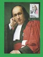 FRANCE CARTE MAXIMUM  N°  1990A CLAUDE BERNARD 1813 1878 THEME LYON Médecin Et Physiologiste Français. - Cartes-Maximum