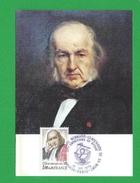 FRANCE CARTE MAXIMUM  N°  1990A CLAUDE BERNARD 1813 1878 THEME PARIS Médecin Et Physiologiste Français. - Cartes-Maximum
