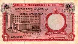 NIGERIA 1 LIVRE De 1967nd  Pick 8  RARE - Nigeria
