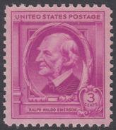 !a! USA Sc# 0861 MNH SINGLE - Famous Americans: Ralph Waldo Emerson