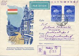 MOSKAU - 1960 , Hubschrauber Mil  Mi 4 , R-Brief Nach Ehrenfriedersdorf - Flugzeuge
