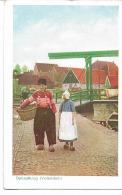CPSM -  FOLKLORE - NEDERLAND - - Dutch Costumes : Ophaalbrug ( Voendam ) - Kostums