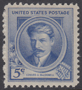 !a! USA Sc# 0882 MLH SINGLE - Famous Americans: Edward MacDowell