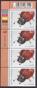 2010 - Beadwork Lady Bird - Mi:ZA 1989 - 2011-09-01 - MNH - Blocchi & Foglietti