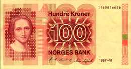 NORVEGE 100 KRONER De 1987  Pick 43c  XF/SUP - Norvège