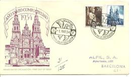 FDC 1954   MARCA ALFIL - FDC