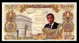 Billet Fantaisie De 10 000 Francs ! Sarkozy (art. N° 549) - Specimen